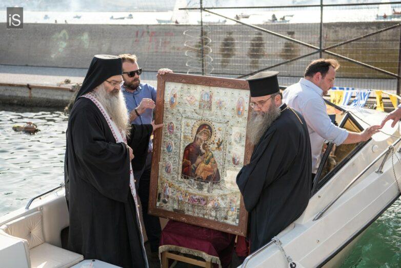 Στον Βόλο η εικόνα της Παναγίας Φοβεράς Προστασίας από το Άγιον Όρος