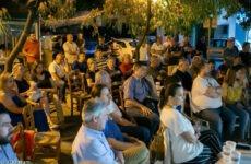 Ομιλία στην συνοικία της Νέας Δημητριάδας πραγματοποίησε ο Γιώργος Καλτσογιάννης