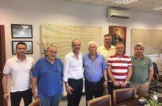 Συνάντηση Γ. Καλτσογιάννη με πρόεδρο του Α.Σ. Βόλου και της ΕΒΟΛ Ν. Πρίντζο