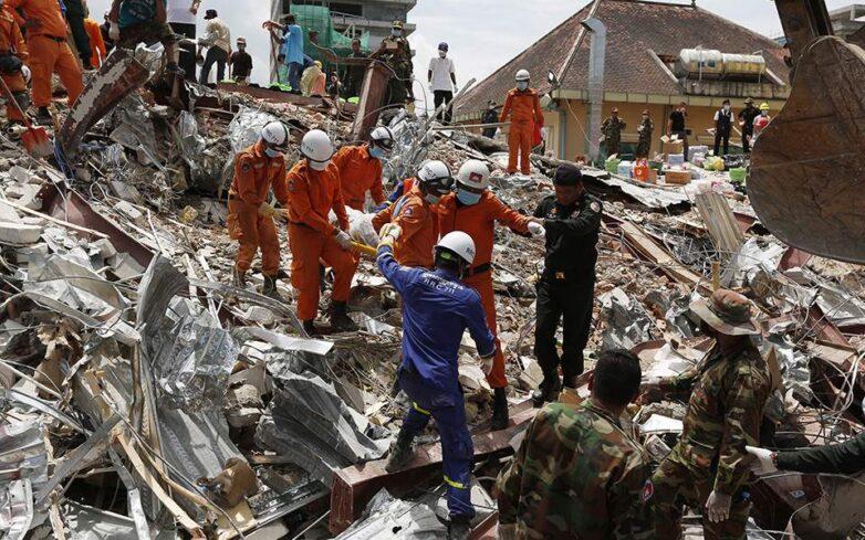 Καμπότζη: Στους 17 οι νεκροί από την κατάρρευση ενός υπό κατασκευή κτιρίου