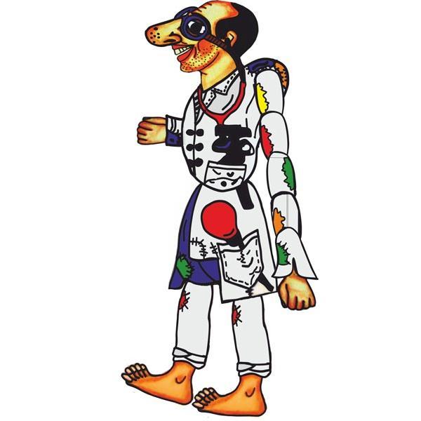 «Ο Καραγκιόζης γιατρός» στο προαύλιο του Ορφανοτροφείου Βόλου