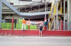 Διαμαρτυρία στην ΑΓΕΤ από πολιτες κατά της καύσης νέου φορτίου RDF