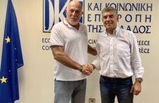Συνάντηση Κ. Αγοραστού και Γ. Βερνίκου για τη νέα αρχιτεκτονική της ΟΚΕ