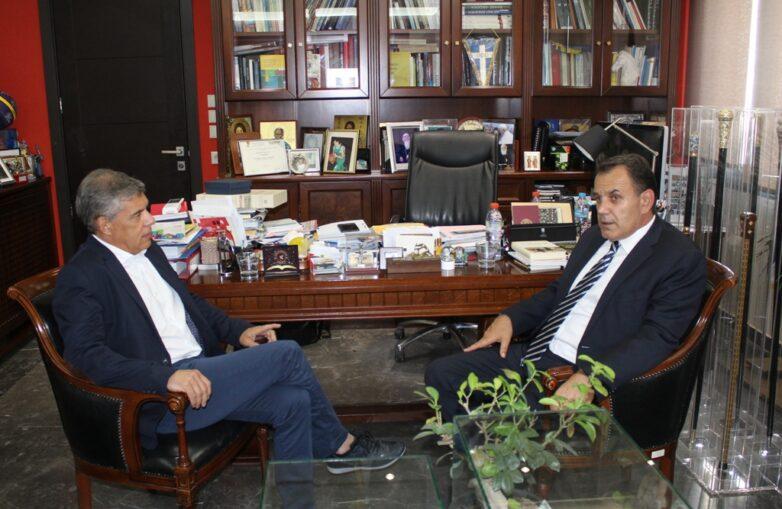 Με τον υπουργό Εθνικής Άμυνας Ν. Παναγιωτόπουλο συναντήθηκε ο περιφερειάρχης Θεσσαλίας Κ. Αγοραστός