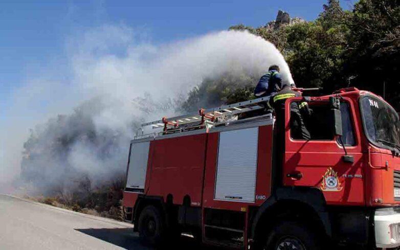 Σε εξέλιξη πυρκαγιά στον Μαραθώνα