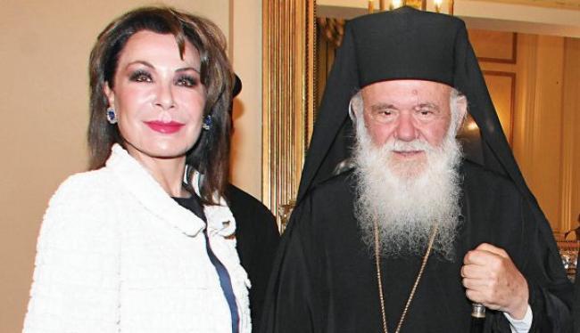 Η επικεφαλής του «Ελλάδα 2021» Γιάννα Αγγελοπούλου, στον Αρχιεπίσκοπο