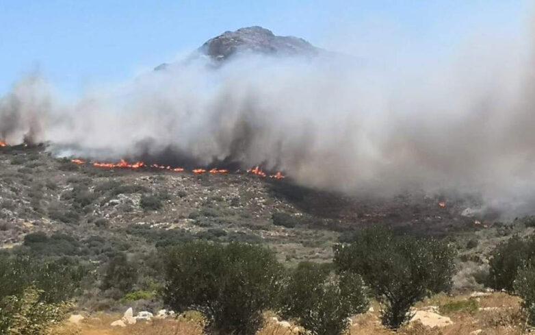 Αναζωπυρώθηκε η φωτιά στην Ελαφόνησο – Ξέσπασε και δεύτερο μέτωπο