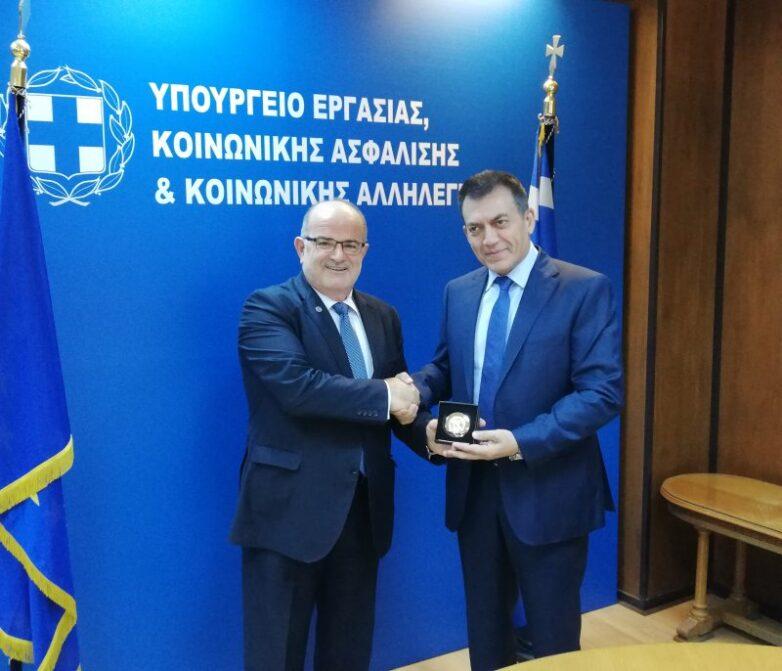 Συνάντηση ΓΣΕΒΕΕ με τον Υπουργό Εργασίας κ. Βρούτση