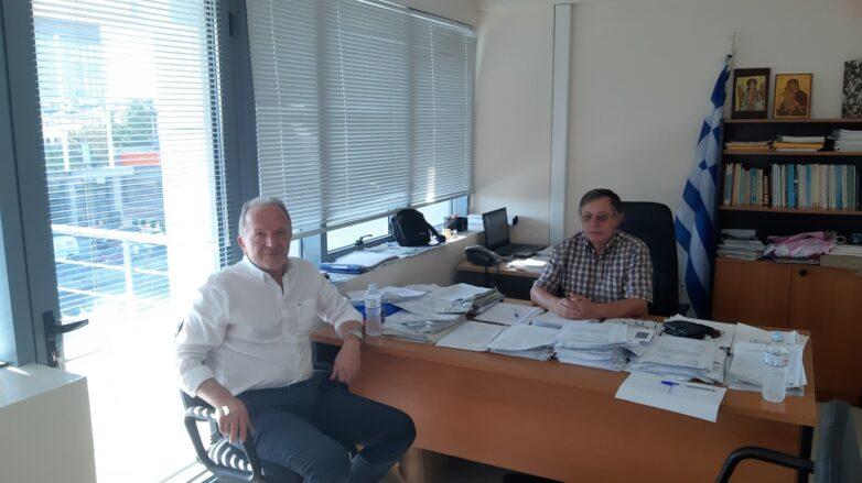Συνάντηση Αθ. Λιούπη με τον προϊστάμενο του ΕΛΓΑ