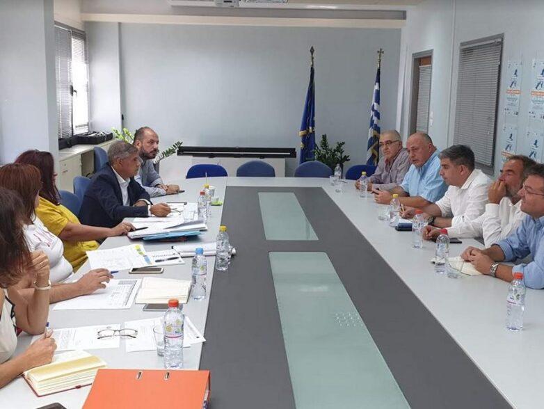 Σύσκεψη στην Περιφέρεια Θεσσαλίας για έργα ΕΣΠΑ στο Βόλο