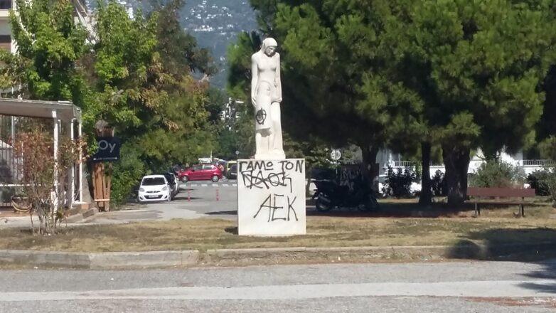 Νέοι βανδαλισμοί στο άγαλμα της μητέραςστο πάρκο του Αγίου Κωνσταντίνου