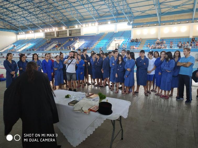 Αγιασμός στα τμήματα υγρού στίβου της Νίκης Βόλου για τη νέα χρονιά