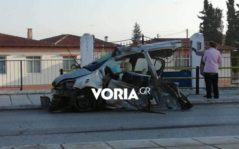 Ένας νεκρός από καραμπόλα οχημάτων στην παλαιά εθνική οδό Θεσσαλονίκης-Καβάλας