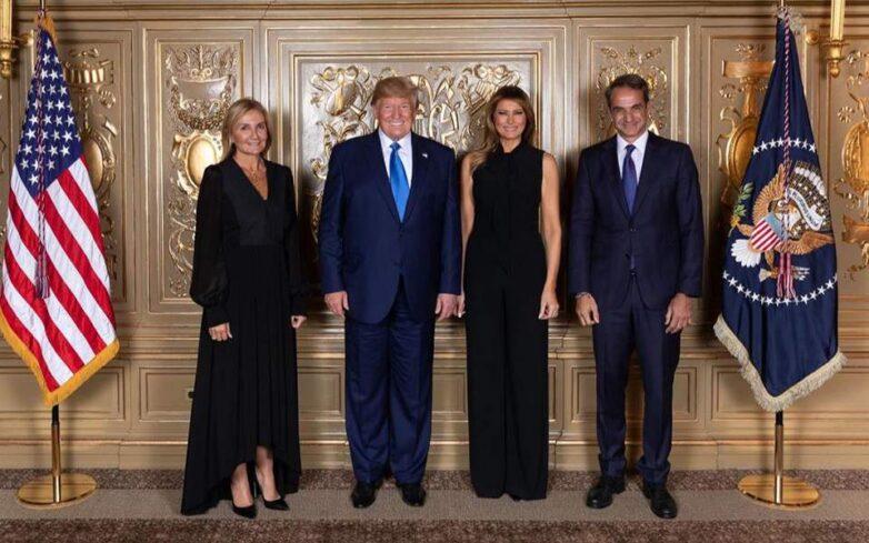 Ο Κυριάκος και η Μαρέβα Μητσοτάκη στην δεξίωση Τραμπ στη Νέα Υόρκη