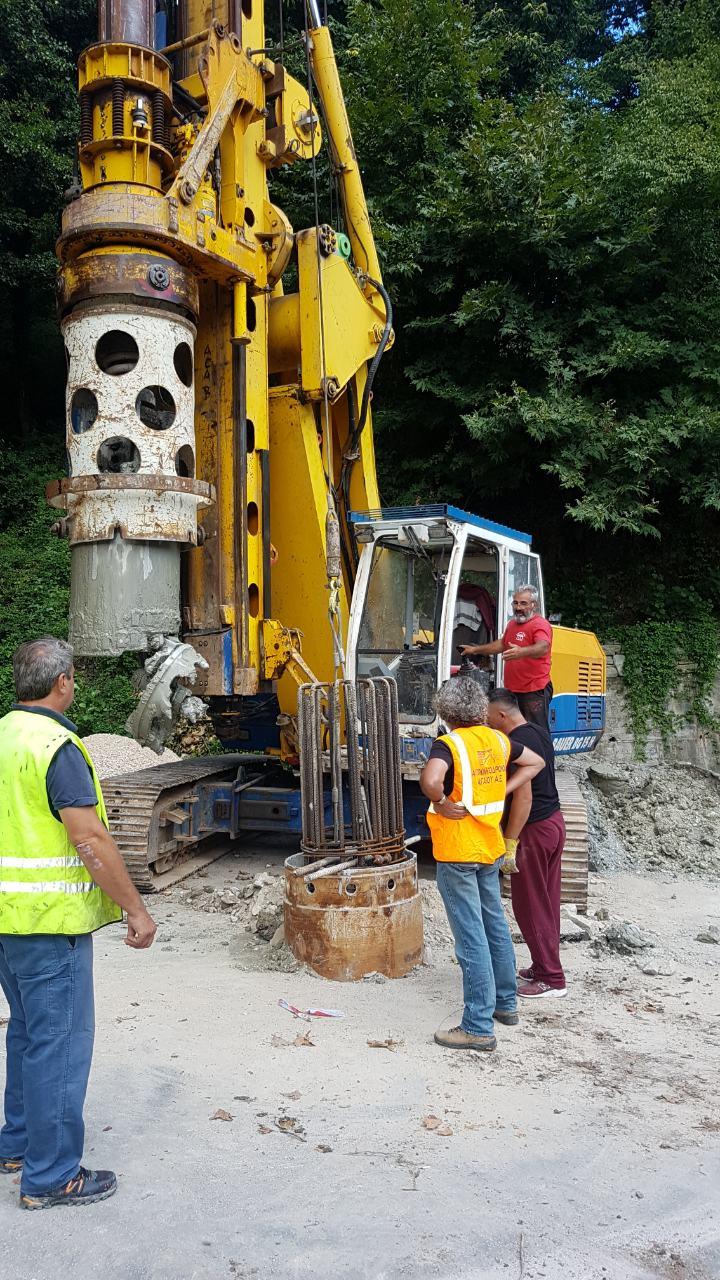 Εργασίες ανακατασκευής τμήματος του εθνικού οδικού δικτύου Βόλος-Πορταριά-Χορευτό