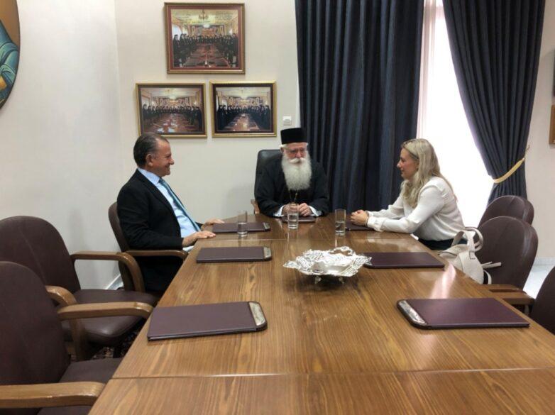 Συνάντηση μητροπολίτη Ιγνατίου με την νέα διοίκηση του Ο.Λ.Β. Α.Ε.