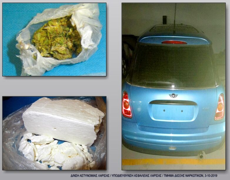 """Με έξι κιλά """"λευκού θανάτου"""" σε ναρκαυτοκίνητο 30χρονος στη Λάρισα"""