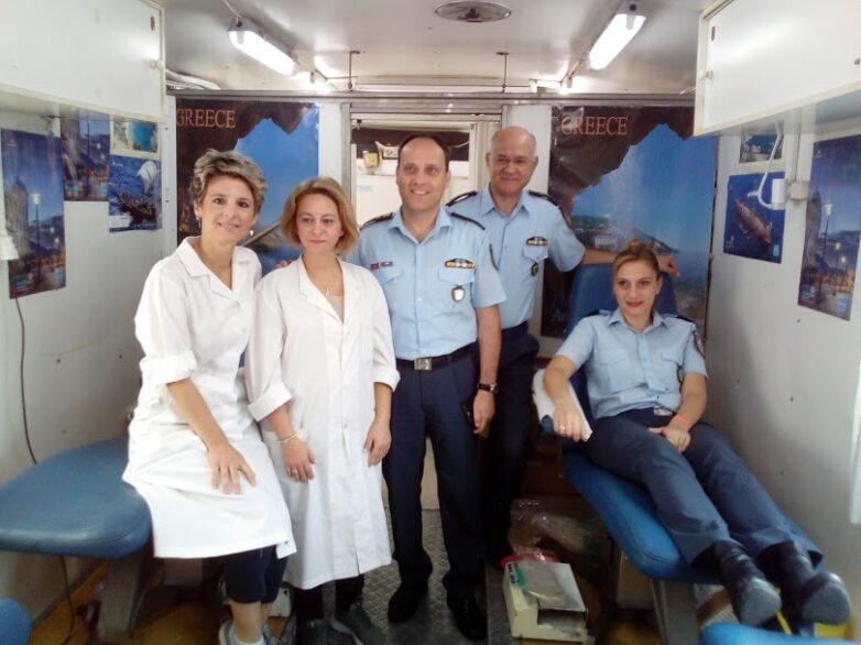 Εθελοντική αιμοδοσία στην Διεύθυνση Αστυνομίας Μαγνησίας