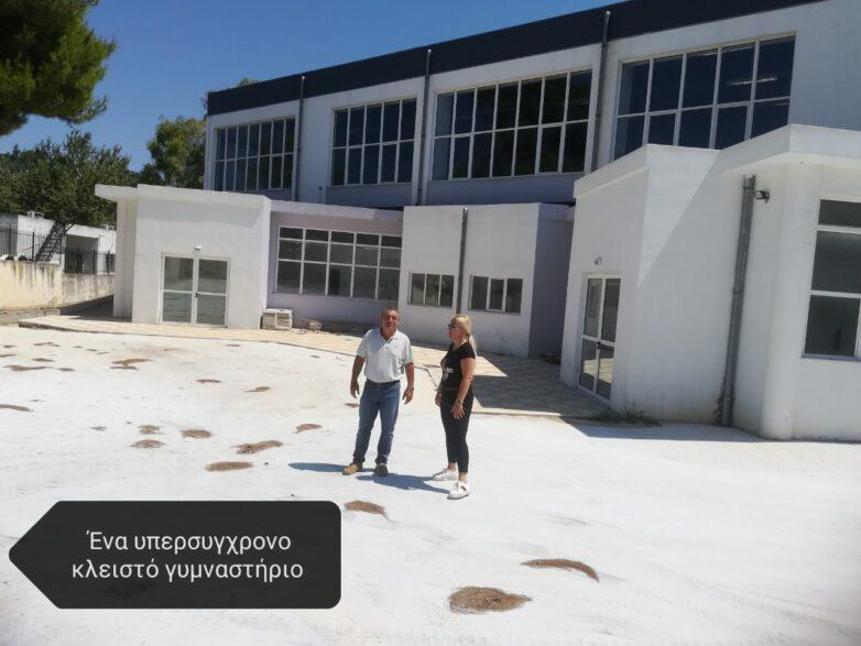Εργασίες στο νέο υπερσύγχρονο κλειστό γυμναστήριο Αλοννήσου