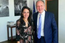 ΣυνάντησηΑθ. Λιούπη -υφυπουργού Εργασίας και Κοινωνικών Υποθέσεων