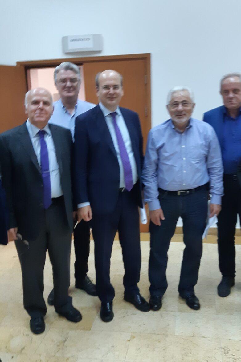 Συνάντηση συντονιστών Αποκεντρωμένων Διοικήσεων με τον υπουργό Περιβάλλοντος & Ενέργειας Κωνσταντίνο Χατζηδάκη