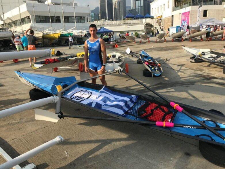 Αθλητής του τμήματος Κωπηλασίας του Α.Σ. Δημητριάς στο Παγκόσμιο Πρωτάθλημα του Χόνγκ Κογκ