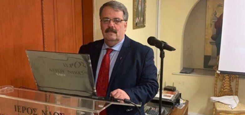 Ο ιατρός Ιωάννης Καλούσης στην ομιλία του «Αποστόλου Παύλου»