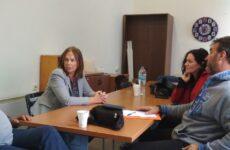 ΣυνάντησηΚατερίνας Παπανάτσιουτο Δ.Σ. του ΣυλλόγουΕργαζομένων Ο.Τ.Α. Μαγνησίας
