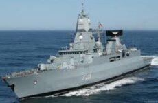 Στο λιμάνι του Βόλου φρεγάτα του Γερμανικού Πολεμικού Ναυτικού