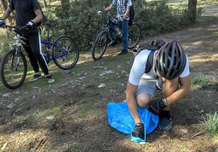 Καθαρισμός του λόφου Γορίτσας από την ποδηλασία της Νίκης Βόλου