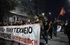 Σε εξέλιξη οι πορείες στη Θεσσαλονίκη για την 46η επέτειο από την εξέγερση του Πολυτεχνείου