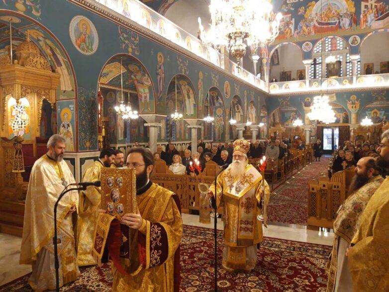 ΣτονΙ.Ν. Αναλήψεως του Χριστού Βόλουλειτούργησε ο μητροπολίτης Δημητριάδος Ιγνάτιος