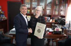 Συνάντηση περιφερειάρχη Θεσσαλίας με την πρέσβη της Αυστρίας στην Ελλάδα