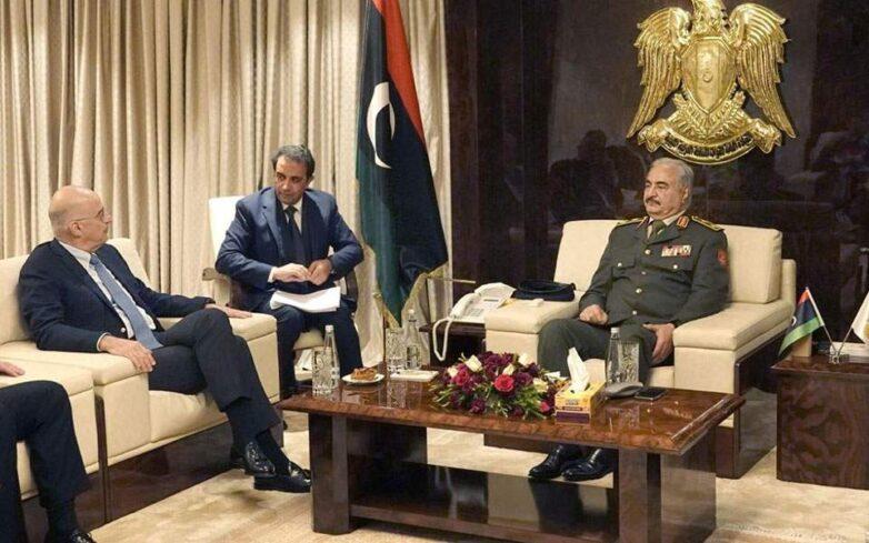 Συνάντηση Ν. Δένδια με τον Χαλίφα Χαφτάρ στη Λιβύη: Άκυρα και επιβλαβή τα τουρκολιβυκά μνημόνια