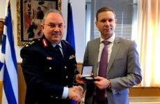 Επίσκεψη γενικού πρόξενου των Η.Π.Α. στη Γενική Περιφερειακή Αστυνομική Διεύθυνση Θεσσαλίας