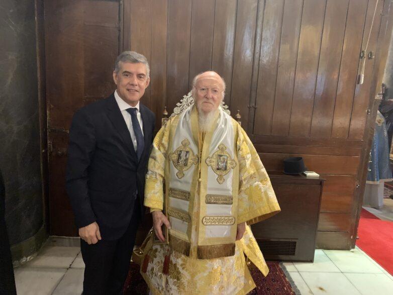 Ο περιφερειάρχης Θεσσαλίας Κ. Αγοραστός από την Κωνσταντινούπολη: «Μήνυμα συνύπαρξης, σεβασμού στην ετερότητα και αγάπης για τον άνθρωπο»