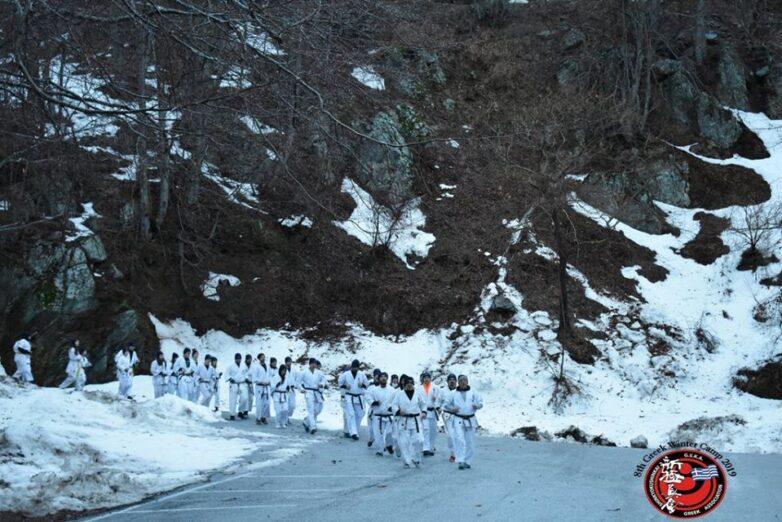 Ελληνικό Winter Camp του Shinkyokushinkai στα Χάνια Πηλίου
