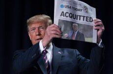 «Διάγγελμα» Τραμπ μία ημέρα μετά την αθώωσή του από τη Γερουσία