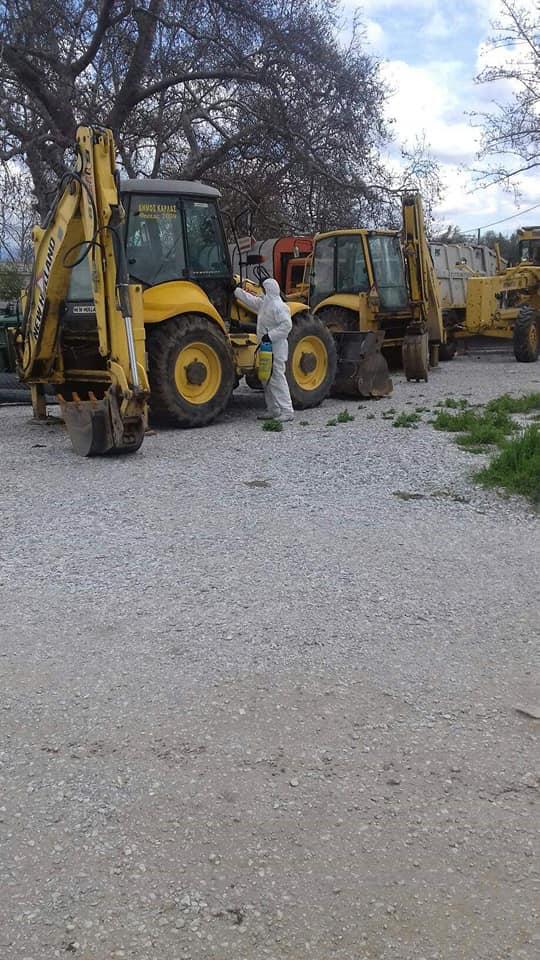 Απολύμανση στον στόλο οχημάτων του Δήμου Ρήγα Φεραίου
