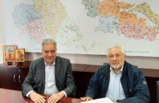 Συνάντηση Νικ. Ντίτορα με τον διοικητή 5ης ΥΠΕ, τον διοικητή και αν. διοικητή του Π.Γ.Ν.Λ.