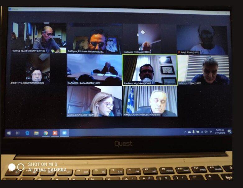 Τηλεδιάσκεψη συντονιστών Αποκεντρωμένων Διοικήσεων και πολιτικής ηγεσίας του ΥΠΕΝ