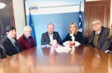Συνάντηση της Ζέττας Μ. Μακρή με τον διοικητή του ΟΑΕΔ