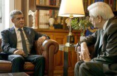 Συνάντηση Παυλόπουλου-Αγοραστού στο Προεδρικό Μέγαρο