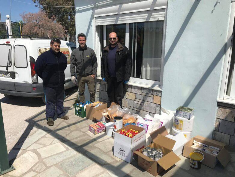 Δωρεά τροφίμων στο ίδρυμα «Άσπρες Πεταλούδες»