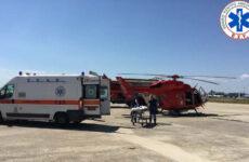 EKAB: Πραγματοποίηση έκτακτης Αεροδιακομιδής παρουσία του υφυπουργού Υγείας Βασ. Κοντοζαμάνη