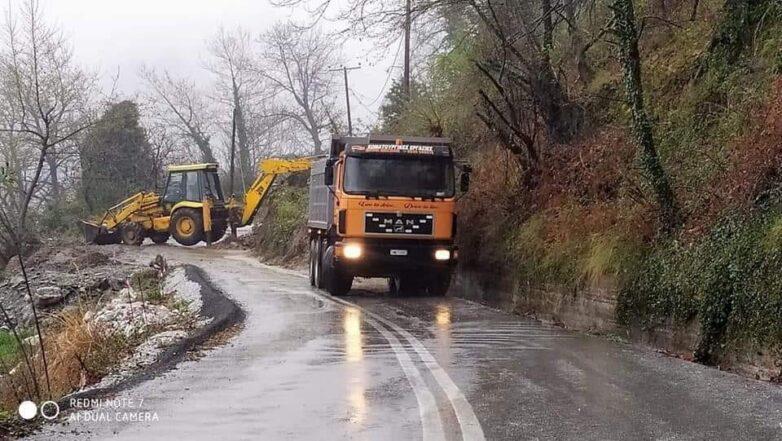 Κλειστός ο δρόμος Τσαγκαράδα – Ξουρύχτι για την αποκατάσταση ζημιών