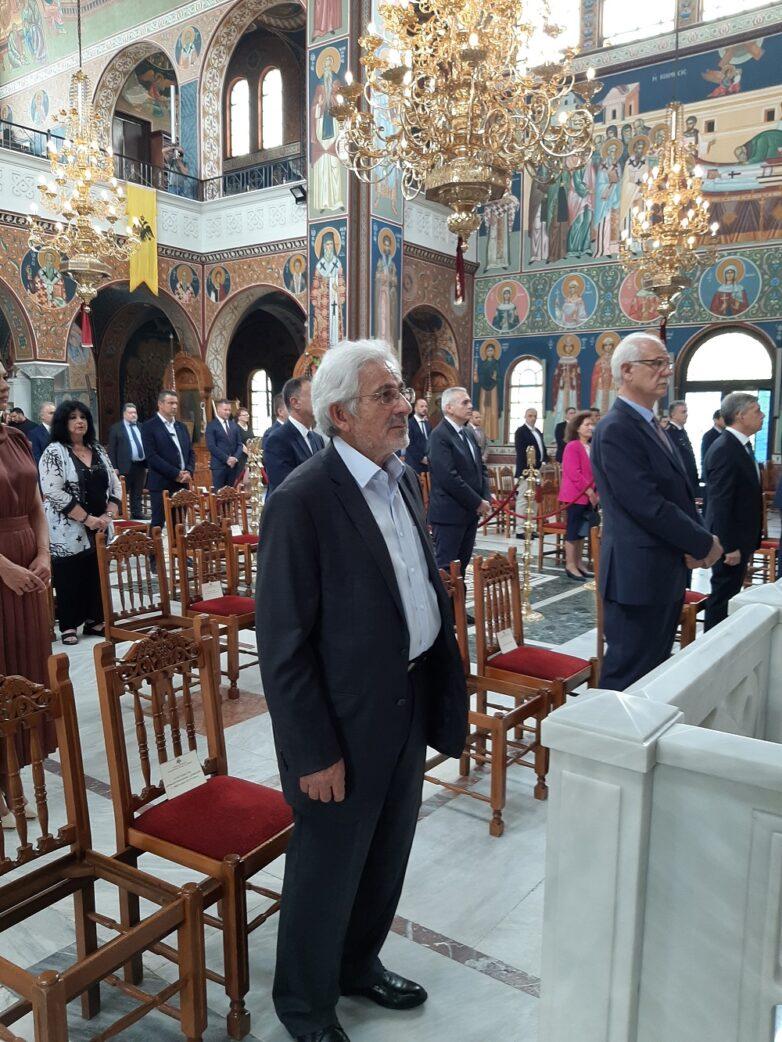 Στην επίσημη δοξολογία για την εορτή του πολιούχου της Λάρισας Αγίου Αχιλλίου