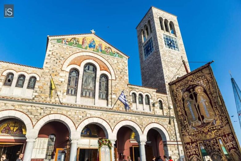 Λαμπρός ο εορτασμός των Αγ. Κωνσταντίνου & Ελένης στον Βόλο