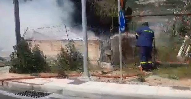 Φωτιά σε οικόπεδο στην Αγριά