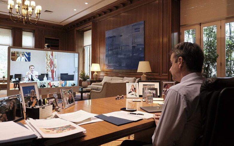 Τηλεδιάσκεψη Μητσοτάκη με τους ηγέτες επτά χωρών που αντιμετώπισαν με επιτυχία το πρώτο κύμα της πανδημίας